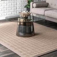 Oliver & James Claus Braided Natural Sisal Area Rug - 9' x 12'