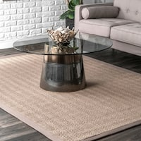 Oliver & James Claus Natural Sisal Chevron Area Rug - 10' x 14'