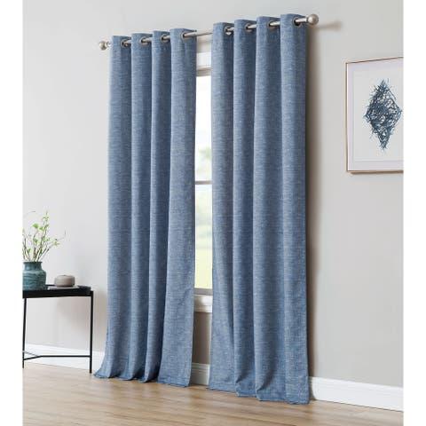 Inspired Surroundings Madison Chenille Textured Curtain Panel