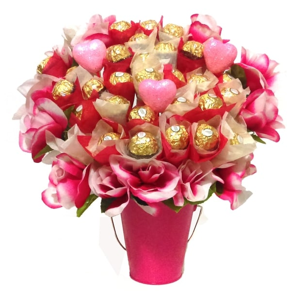 Shop Pink Rose Ferrero Bouquet - Free Shipping Today - Overstock.com ...