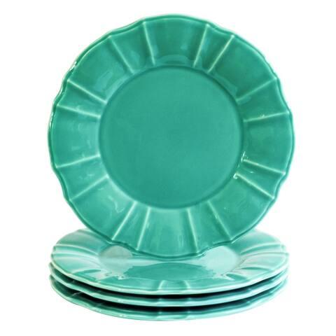 Euro Ceramica Chloe Dinner Plates, Set of 4