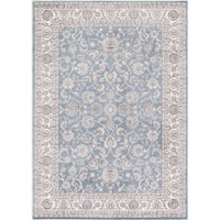 Concord Global Kashan Izmir Blue Rug - 6'7 x 9'1