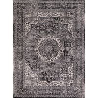 Concord Global Kashan Tabriz Grey Area Rug - 6'7 x 9'1