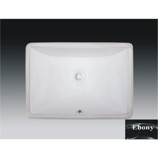 Wells Rectangular Vitreous Ceramic Lavatory Single Bowl Undermount Ebony 20 x 15 x 6