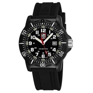 Luminox Men's 'Black OPS' Black Dial Black Rubber Strap Time Date Swiss Quartz Watch