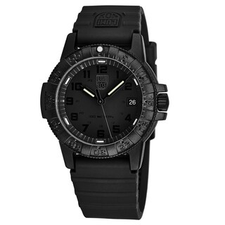 Luminox Men's XS.0301.BO 'Leatherback Sea Turtle' Black Dial Black Rubber Strap Time Date Swiss Quartz Watch