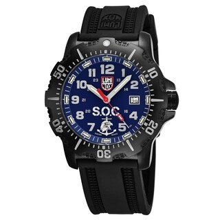 Luminox Men's 'Spec OPS Challenge' Blue Dial Black Rubber Strap Swiss Quartz Watch