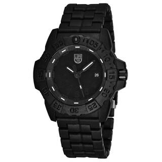 Luminox Men's XS.3502.BO 'Navy Seal' Black Dial Black Carbon Compound Bracelet DateTime Swiss Quartz Watch