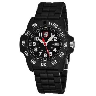 Luminox Men's XS.3502 'Navy Seal' Black Dial Black Carbon Compound Bracelet Swiss Quartz Watch