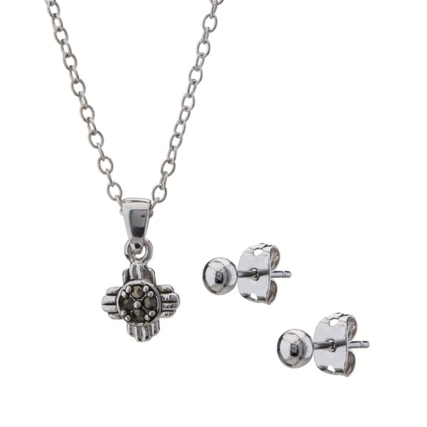 Romilly petite marcasite sun cross pendant and earring set free romilly petite marcasite sun cross pendant and earring set aloadofball Choice Image