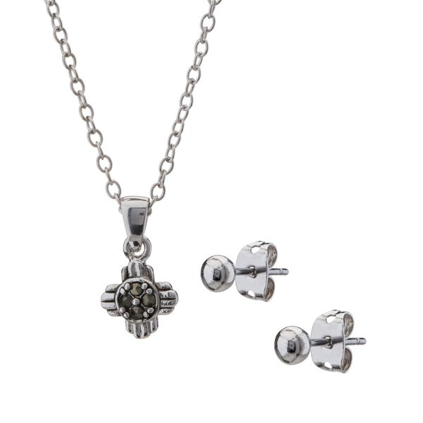 Romilly petite marcasite sun cross pendant and earring set free romilly petite marcasite sun cross pendant and earring set aloadofball Image collections