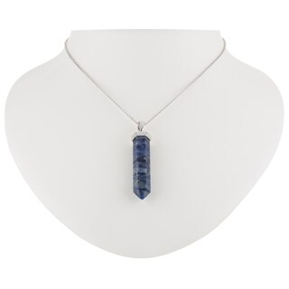 "Gem Power Sodalite 30"" Hexagon Pendant"