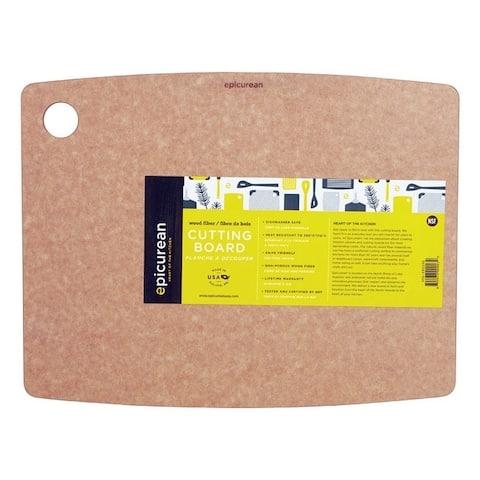 Epicurean 14.5 in. L x 11.3 in. W Natural Natural Wood Fiber Cutting Board