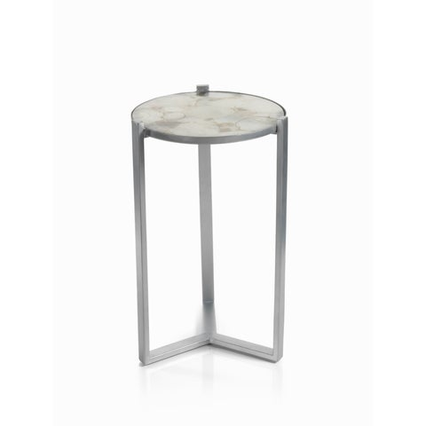 """""""Nova"""" 20"""" Tall Cocktail Table with Agate Top"""