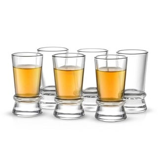 JoyJolt Afina Heavy Base Shot Glass Set, 6 Piece 1.5 Oz