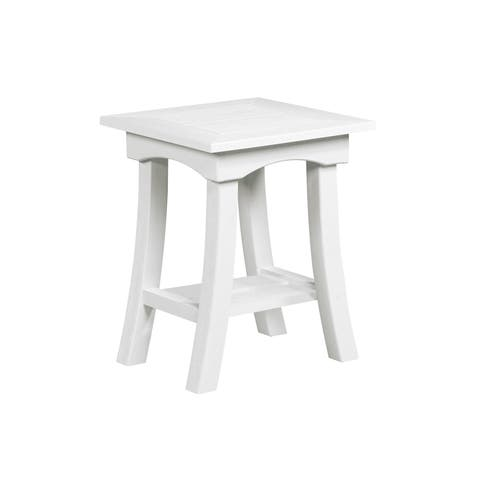"C.R. Plastic Products Bay Breeze 19"" End Table"