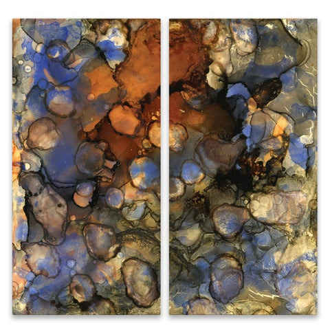 """Beautiful Chaos 3"" Aluminum Wall Art - Set of 2, 15W x 30H x .75D each"