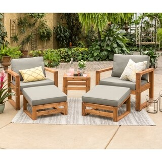 Hudson Open Side 5 Piece Outdoor Patio Chat Set