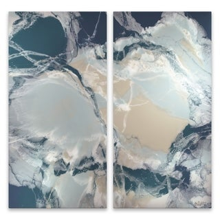 """Ocean Deep"" Aluminum Wall Art - Set of 2, 15W x 30H x .75D each"
