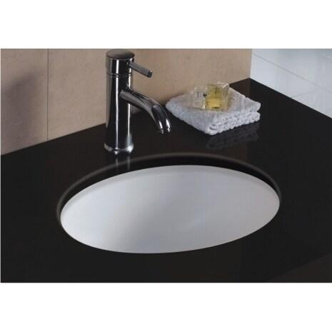 Wells Oval Vitreous Ceramic Lavatory Single Bowl Undermount White 17 x 14 x 8