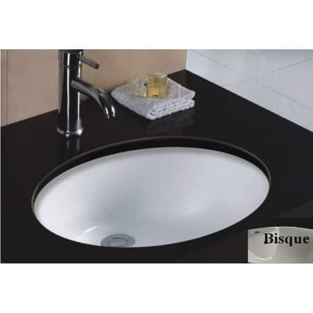Wells Oval Vitreous Ceramic Lavatory Single Bowl Undermount Bisque 20 x 16 x 8