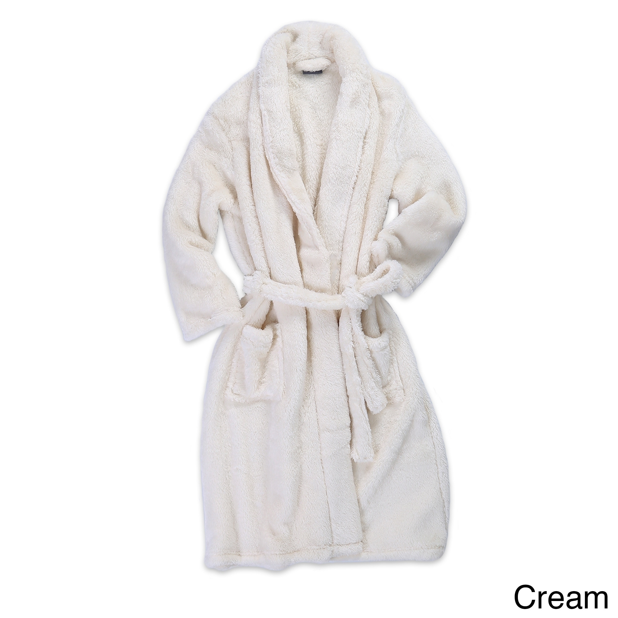 Berkshire Blanket And Home Extra Fluffy Plush Robe On Sale Overstock 21117172 Cream L Xl