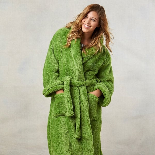 a04ba431c4 Shop Berkshire Blanket and Home Extra-Fluffy Plush Robe - Free ...