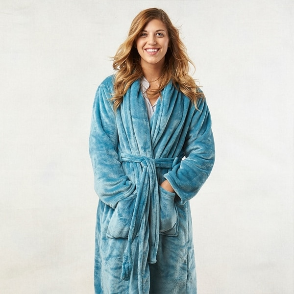 342818af7b Shop Berkshire Blanket VelvetLoft Plush Luxury Spa Robe - Free ...