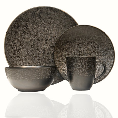 Matrix Black 16Pc Dinner Set