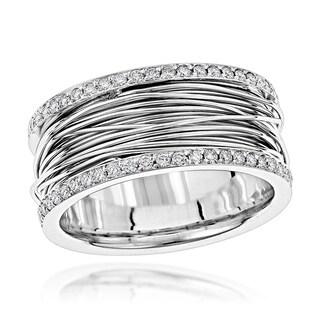 14K Gold Unique G-H/VS1-VS2 Diamond Wedding Ring Gold 1 Carat Band by Luxurman