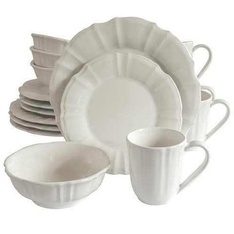 Euro Ceramica Chloe 16 Piece Dinnerware Set (Service for 4)