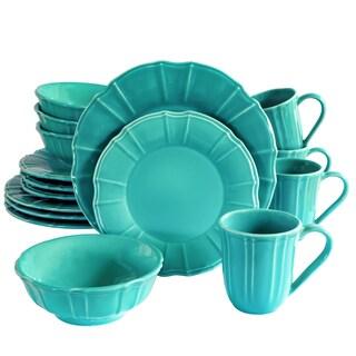 Euro Ceramica Chloe 16 Piece Dinnerware Set (Service for 4)
