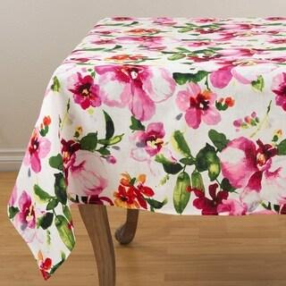 Watercolor Floral Design Tablecloth