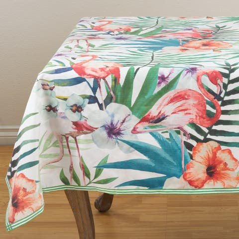 Watercolor Flamingo Print Tropical Table Topper