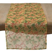 Golden Holiday Sheer Table Runner