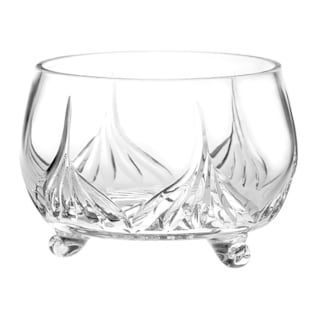 """Majestic Gifts Handcut European Crystal Footed Bowl-8"""" D"""