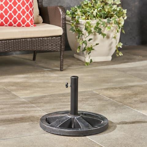 Sanne Outdoor Concrete Circular Umbrella Base by Christopher Knight Home