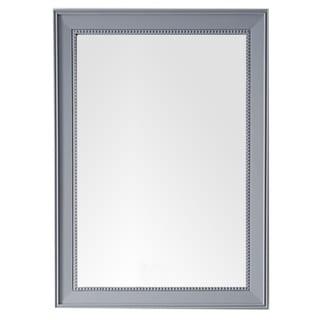 "Bristol 29"" Rectangular Mirror, Silver Gray - Silver Gray - 29""w x 40""h"