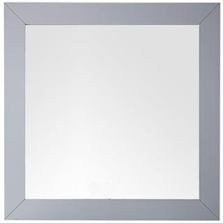 "Weston 40"" Rectangular Mirror, Silver Gray - Grey - 40""w x 40""h"