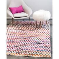 Unique Loom Trellis Braided Chindi Area Rug - 8' x 10'