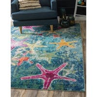 Unique Loom Seashore Positano Area Rug - 8' X 10'