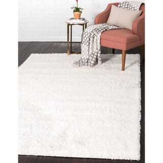 Unique Loom Solid Shag Area Rug - 8' X 11'