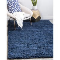 Unique Loom Solid Shag Area Rug - 8' x 10'