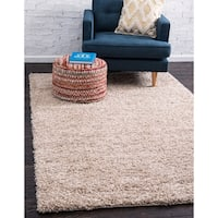 "Unique Loom Solid Shag Square Rug - 8'2"" square"