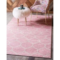 Unique Loom Rounded Trellis Frieze Area Rug
