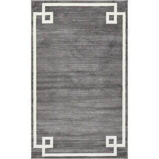 Jill Zarin Lenox Hill Uptown Area Rug (Grey - 5 x 8)