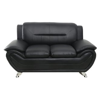 Michael Segura Faux Leather Loveseat
