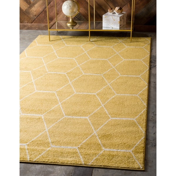 Shop Unique Loom Geometric Trellis Frieze Area Rug 9 X