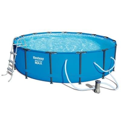 "Bestway Steel Pro Max Swimming Pool Set with 1,000 GPH Filter Pump, 15' x 42"""