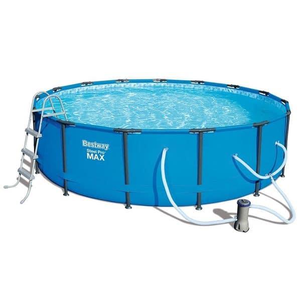 Bestway Steel Pro Max Swimming Pool Set with 1,000 GPH Filter Pump, 15\' x  42\